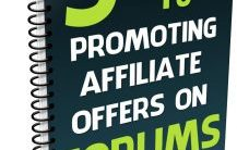 Promoting Affiliate Offers on Forums